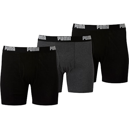 Men's Cotton Boxer Briefs [3 Pack], BLACK TRADITIONAL, small
